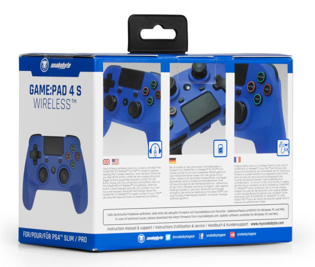 SB914539 PS4 Game Pad 4 S Wireless (blue) retail 03