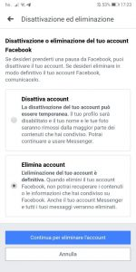 eliminare account facebook smartphone4