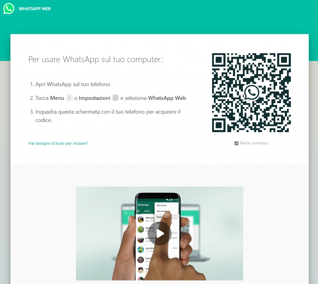 Stesso account Whatsapp - Whatsapp Web