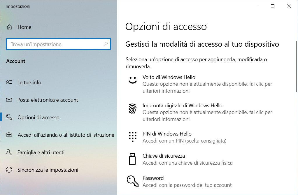 rimuovere il pin su windows 10 finestra