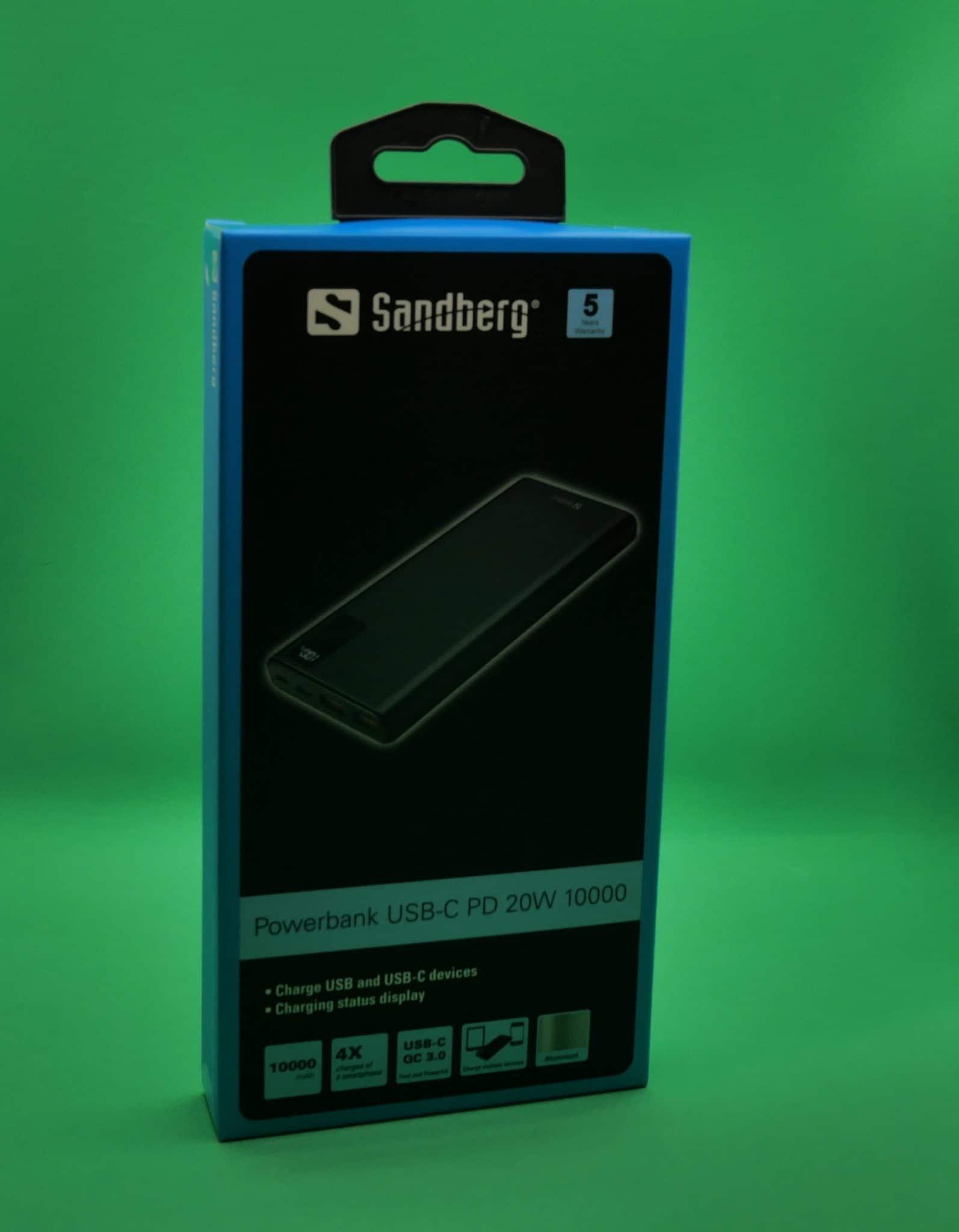 Powerbank Sandberg USB-C PD 20W 10000 confezIone